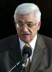 IKKE VÅPEN: PLO-leder Mahmoud Abbas vil ha våpenbruken ut av intifadaen. Arkivfoto.
