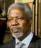 FNs generalsekretær Kofi Annan.