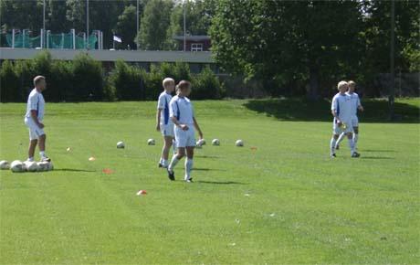 Få spillere møtte frem på dagens trening.