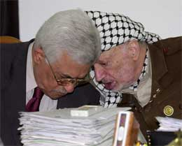 Arafat og Abbas i Ramallah i forrige måned (Scanpix/AP)
