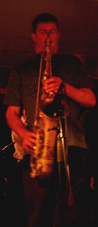 Eric Alexander (35) er tenorsaxofonist i One For All. Foto: Rune Johansen, NRK.no/musikk