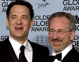 Tom Hanks og Steven Spielberg er gode busser(Foto: AP/Scanpix)