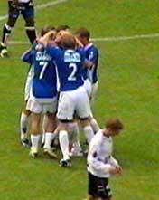 Molde spillerne hadde god grunn til å juble etter seieren over Sogndal