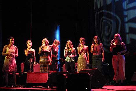Halve Trondheim Voices. Foto: Arne Kristian Gansmo, NRK.no/musikk.