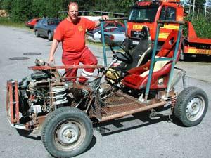 Motoren og andre deler skal stamme fra en Opel. (Foto: Nils Henning Vespestad/ Scanpix)