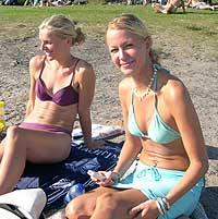 Tove (til venstre) og Marie Slyngstad. Foto: NRK.