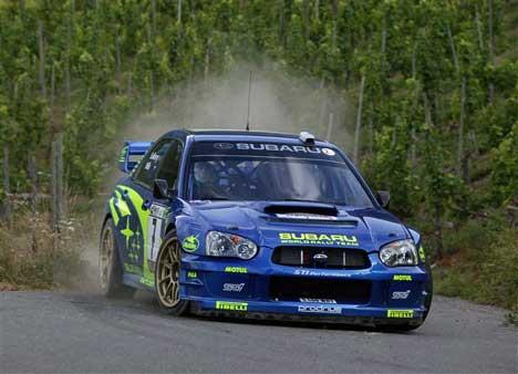 Han var redd han ikke skulle få lov til å kjøre i dag, men nå kjører Petter Solberg fort. (Foto: www.swrt.com)