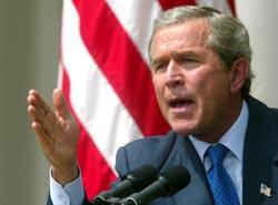George W. Bush ligger på alle de siste målingene an til å få en ny periode som USAs president. (Arkivfoto)