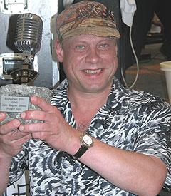 John Magnar Bernes, alias Hungry John ble årets vinner av Bluesprisen på Notodden. Foto: Per Ole Hagen.
