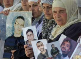 Palestinske kvinner krever slektninger i israelske fengsler løslatt (Scanpix/Reuters)