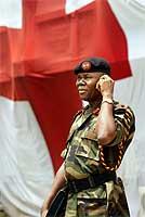 En nigeriansk fredstyrke skal overvåke våpenhvilen (Scanpix/AFP)