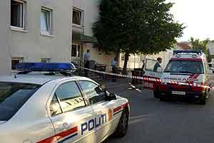 Bildet viser huset hvor drapet fant sted. Foto: Tore AndrÈ Baardsen / Fædrelandsvennen / SCANPIX
