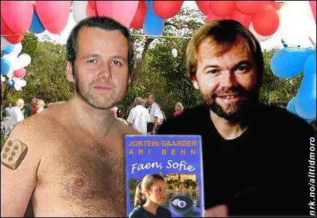 Gyldendal forlag markerte nyheten om de to suksessforfatternes utgivelse med en egen hagefest.