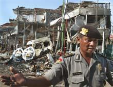 Bombe på Bali i oktober 2002. (Foto: AP/Scanpix)