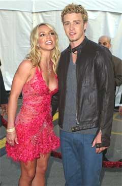 """Britney og Justin i """"the good old days"""". Foto: Kevork Djansezian / AP."""