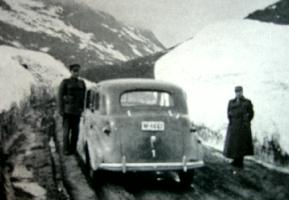 Fotos fra maidagene 1940 ved Målselv levner ingen tvil om at både kong Haakon og kronprins Olav var der sammen.