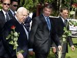 Stort sikkerhetsoppbud da Israels statsminister Ariel Sharon besøkte Molde tidligere i sommer. Foto: Sven Nackstrand, AFP/Scanpix.