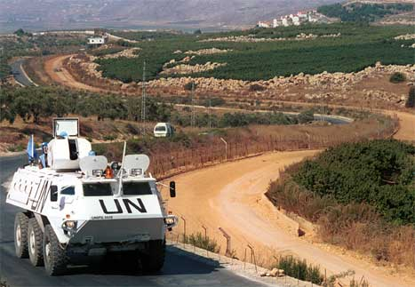 Det er auka spenning i grenseområdet mellom Israel og Libanon. Også FN-styrkane i området er i alarmberedskap. (AP-foto)