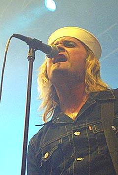 Thomas Seltzer i Turboneger er ikke fornøyd med Stein Østbø i VG sin behandling av bandet. Foto: Jørn Gjersøe, nrk.no/Musikk.