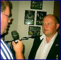 Arne Flatin intervjuar Espen Silseth. Foto:Gunnar Sandvik