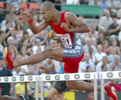 Felix Sanchez vant 400 meter hekk på 47,82 i Golden League-stevnet i Zürich før VM. (Foto: Reuters/Scanpix)