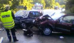Ulykken skjedde like før klokken 0900 tirsdag.