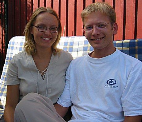 Hege Helene og Anders Bålsrød er svært fornøyde etter å ha deltatt på samlivskurs på Modum.