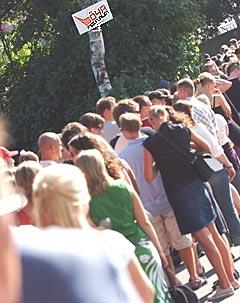 Det var mye folk på Øya-festivalen i Middelalderparken i fjor. I år blir det enda flere. Foto Heiko Junge / SCANPIX.