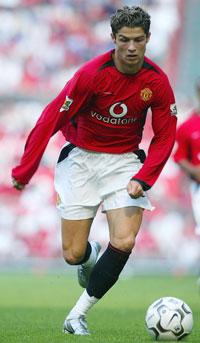 Cristiano Ronaldo i den berømte nummer 7 trøye til United (Foto: Scanpix)