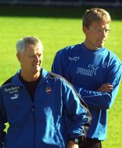 Tromsøs nye trenerduo Terje Skarsfjord og Lars Espejord fikk suksess i første kamp.