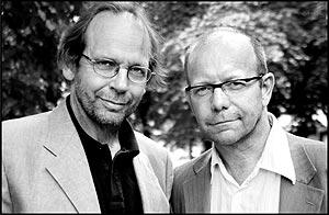 Ole Paus og Jonas Fjeld syns valgkampen så langt har vært lavmåls. Foto: Barbro F Steinde.