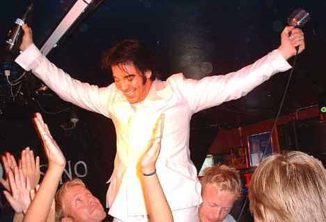 kjell Elvis made it! Foto: Gunnar Kleiberg, NRK Sørlandet.