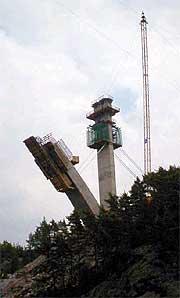 Den polske jernbinderen Jan Stanko falt 30 meter fra en av brupilarene på den nye Svinesundbrua i august 2003. Foto: Rainer Prang, NRK.