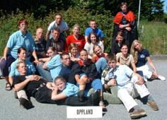 Medlemmer av bygdeungdomslaget i Oppland