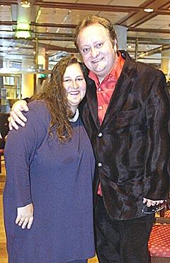 Stephen Ackles sammen med kona Jane Gaarder. Foto: Thomas Bjørnflaten / SCANPIX.