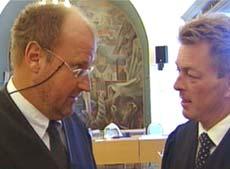Forsvarerne Oscar Ihlebæk og Erik Lea