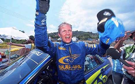 Petter kunne juble over seier i Rally Kypros. Til helgen håper han å kunne gjøre det samme i Australia (Foto: www.swrt.com)