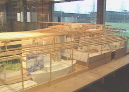 Modell av tatermuseet som skal ligge på Glomdalsmuseet i Elverum.