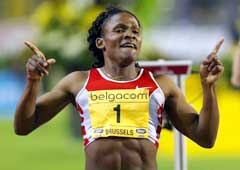 Maria Mutola vant gullpotten i Golden League. (Foto: Reuters/Scanpix)