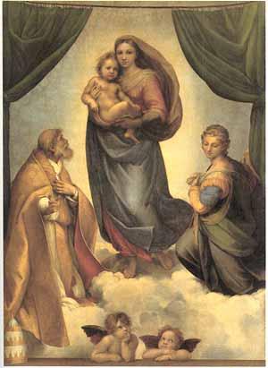 Rafaels Sixtinske madonna henger i Dresden.