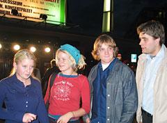 Hege Johnsen, Solveig Heilo, Frode Vassel og Cornelius er spente før konserten.
