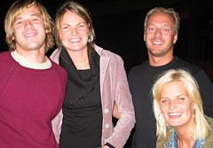 Vi koste oss! Jan Erik Sondresen, Anne Marit Moen, Kristian Klavenes og Cecilie Bergund Luthen.