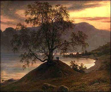 Slindebirken av Thomas Fearnley,1839.
