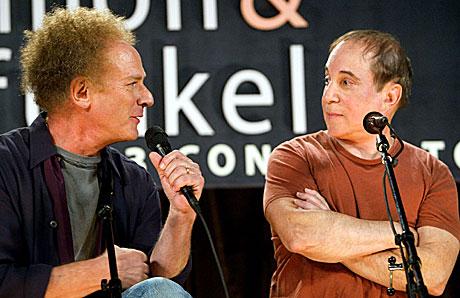 Simon & Garfinkel har blitt venner igjen. Foto: Jeff Christensen Reuters/Scanpix.