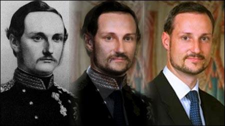 Til venstre: Frederik 8. av Danmark. Til høyre: hans tippoldebarn Haakon Magnus. Nyhetsmediene har slått denne saken stort opp, men Alltid Moro var faktisk først ute.
