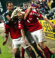 Martin Laursen var mannen som scoret mot Romania på overtid i fjor høst, og holdt liv i Norges EM-håp noen uker til.(Foto: Keld Navntoft/Scanpix)