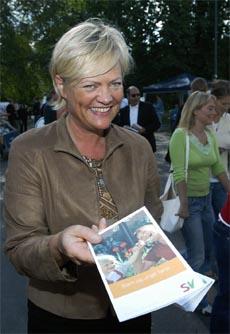 SV-leiar Kristin Halvorsen kan gjera eit svært godt val. (Foto: Knut Falch, Scanpix)