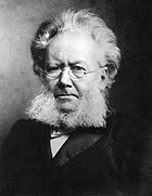 Ibsen hadde såkalla merkantilt skjegg. (Foto: SCANPIX)