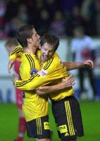 Johan Petter Winsnes scoret for Lillestrøm i den omstridte kampen mot Brann 15. september. (Foto: Marit Hommedal/Scanpix)