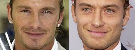 David Beckham og Jude Law (Foto: AP/Reuters/Scanpix)